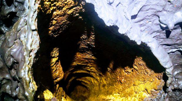 Effet dans un tunnel de lave